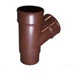 Round Downpipe 112° Branch Brown