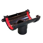 Round Gutter Running Outlet Black