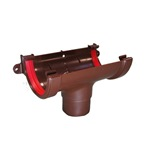Round Gutter Running Outlet Brown