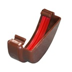 Round Gutter Stopend External Brown