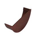 Round Gutter Internal Stopend Brown