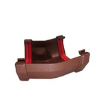 Square Gutter Angle 135° Brown
