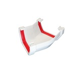Square Gutter Angle 135° White