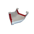 Square Gutter Angle 150° White