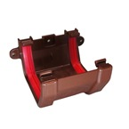 Square Gutter Joint Bracket Brown