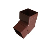 Square Downpipe Bend 112° Brown