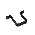 Square Downpipe Bracket / Clip Black