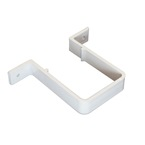 Square Downpipe Bracket / Clip White