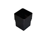 Square Downpipe Straight Connector Black