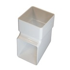 Square Downpipe Shoe Outlet / Spout White