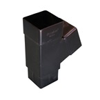 "Square Pipe 65mm 112deg ""Y"" Branch Black"