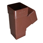 "Square Pipe 68mm 112deg ""Y"" Branch Brown"