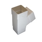 "Square Pipe 65mm 112deg ""Y"" Branch White"