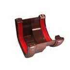 Square to Round Gutter Adaptor Brown