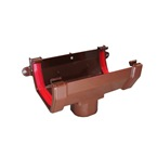 Square Gutter Running Outlet Brown