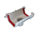 Square Gutter Running Outlet White