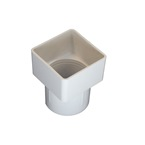 Square to Round Downpipe Adaptor White