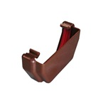 Square Gutter Stopend External Brown