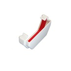 Square Gutter Stopend External White