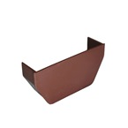 Square Gutter Stopend Internal Brown