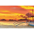 Kitchen Splashback 2440x610mm Picture: Philippine Sunset