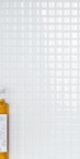 Small Tile Effect Wall Panel, White 2495 x 905