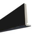 2.5M x 250mm x 18mm Replacement Fascia Solid Black
