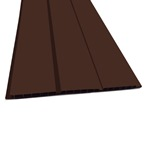 2.5M x 300mm Hollow Board Solid Brown