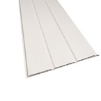 2.5M x 300mm 10mm Hollow Soffit Board White