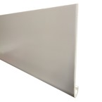 2.5M x 250mm x 10mm Hockey Nose Board White