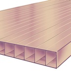 2M x 1047mm Bonus 10mm Polycarbonate Sheet Bronze
