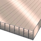 3.5M x 700mm 35mm Polycarbonate Sheet Bronze