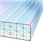 2M x 1200mm Nine-X 40mm Polycarbonate Sheet CLEAR