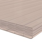 6M x 2090mm 16mm Finest Polycarbonate Sheet Bronze
