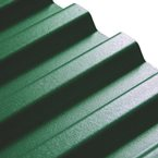 "3.04M x 1090mm (10'0"") 1.1mm Box PVC Corrugated Dark Green"