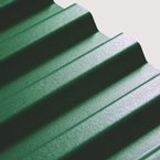 "2.43M x 1090mm (8'0"") 1.1mm Box PVC Corrugated Dark Green"