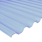 "2.43M x 1090mm (8'0"") 1.1mm Box PVC Corrugated Natural Translucent"