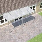 Plain Aluminium Carport Kit 4.0M(P) x 4.25M(W) Haze Polycarbonate (Sanctuary)