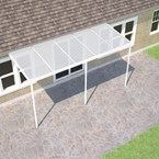 White Carport Kit 4.0M(P)x4.25M(W) Haze Polycarbonate (Sanctuary)