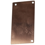 Sanctuary Canopy Wall Plate END PLATE Plain Aluminium