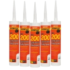 5 Pack 200 Contactors Silicone WHITE