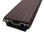 6M Vale Timber Support Glazing Bar For Glass Brown