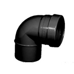 110mm x 92.5 deg Soil Bend - Single Socket BLACK