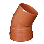 110mm x 15deg Bend Underground Drainage - SINGLE SOCKET