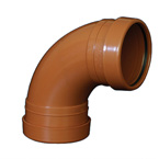 110mm x 87.5deg Bend Underground Drainage - DOUBLE END