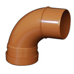 110mm x 87.5deg Bend Underground Drainage - SINGLE END