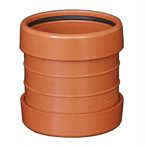 110mm Underground Drainage Coupler - DOUBLE END