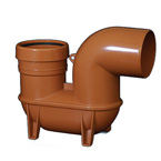 110mm Underground Drainage Low Back P Trap