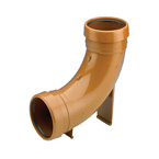 110mm 87.5deg Rest Bend Bend Underground Drainage - DOUBLE SOCKET