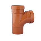 110mm 87.5deg T Branch Underground Drainage- DOUBLE SOCKET